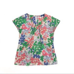 Boden Ravello abstract floral silk top multi color